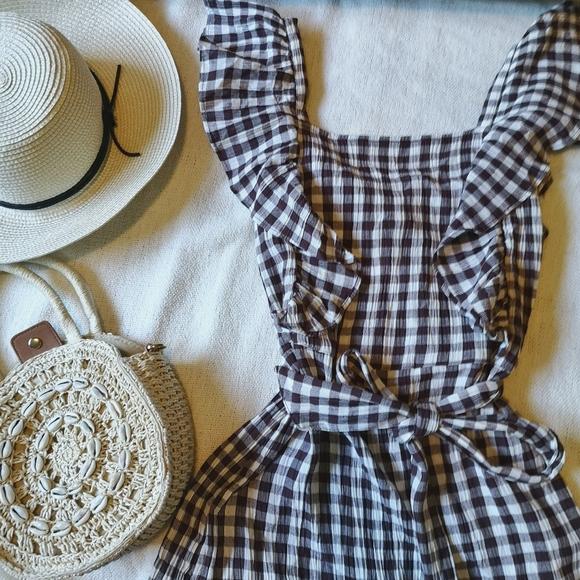 NWT TOPSHOP Gingham Dress